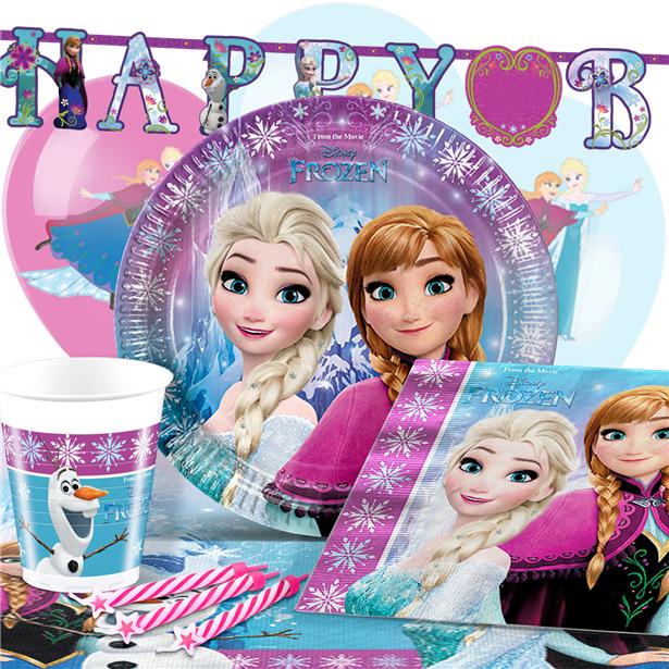 2 guirlandes joyeux anniversaire - Joyeux Anniversaire Reine Des Neiges
